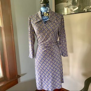 Laundry by Shelli Segal 3/4 sleeve Wrap Dress
